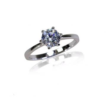925 Silver 7.0mm Cubic Zirconia Ring