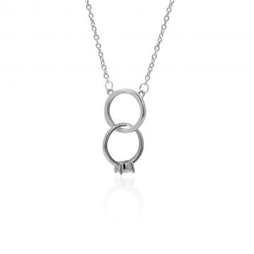 925 Silver Cubic Zirconia Necklace