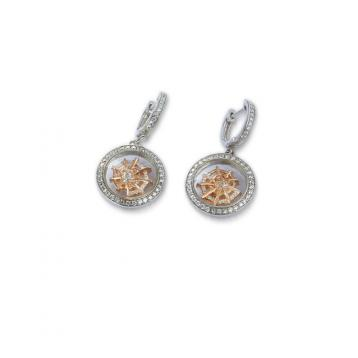 925 silver CZ Moving On earring